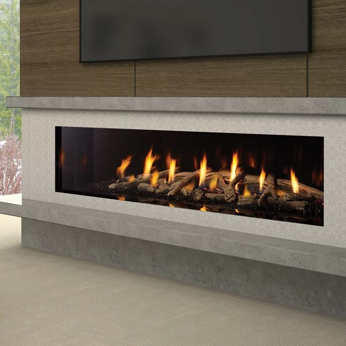 New York View 72 Power Vent Gas Fireplace